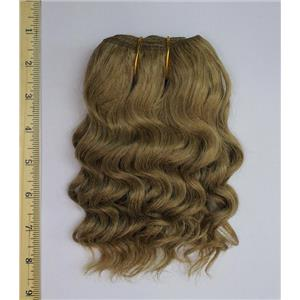 "mohair weft coarse ash blonde 16 curly weft 7-9"" x 50"" 20-25 g 25593 QP"