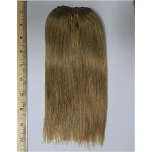 "golden ash blonde 16D mohair weft coarse straight 7-9 x 50"" 20-25g 26275 QP"