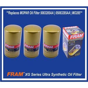 Set (3) Replaces MOPAR DODGE RAM 2500 3500 5.9L 6.7L DIESEL Oil Filter 5083285AA