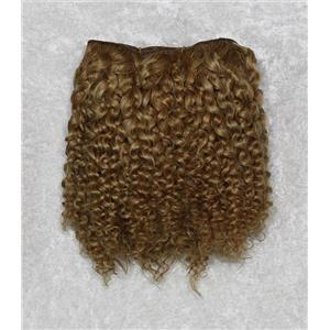 "Golden blonde 16-4 mohair weft coarse Bebe curl weft 6-8 x200"" 90-100g 26329 FP"