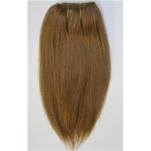 "Warm brown 27 D  mohair weft coarse straight 6-8 x 50"" 20-25g 26341 QP"