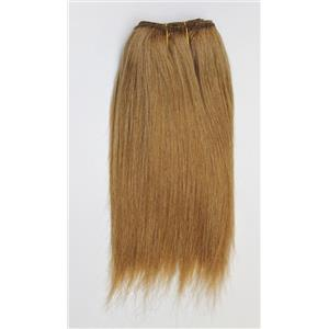 "Strawberry blonde  27-2 mohair weft coarse straight 6-8"" x 100"" 45-50g  26349 HP"