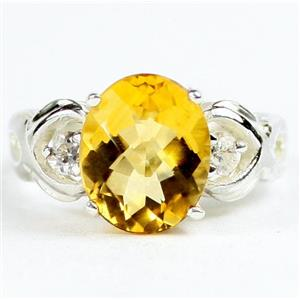 SR243, Citrine, 925 Sterling Silver Ladies Ring