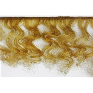 mohair weft coarse /unglazed Gold 27 curly hair 4-7x100 25623 HP
