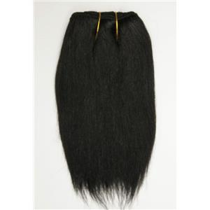 "Black/brown #1B  straight mohair weft coarse 6-8"" x100"" 26361 HP"
