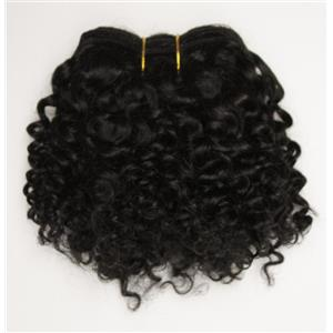 """Black/brown #1B curly mohair weft coarse 6- 8"""" x 50"""" 26365 QP"""