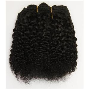 "Black / /brown #1B bebe curl tight curl - mohair weft coarse 6-8"" x200"" 26369 FP"