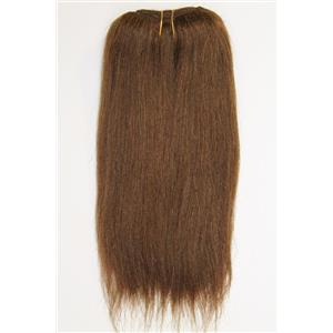 """Brown 6  straight mohair weft coarse 6-8"""" x100"""" 26636 HP"""