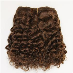 """Brown 6 Curly mohair weft coarse 6-8"""" x100"""" 26379 HP"""
