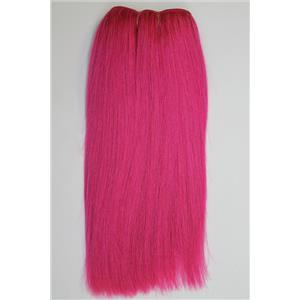 "coarse mohair weft  dark pink double row straight 10"" x 84"" 90-100g FP 26265"