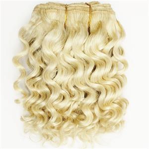 "Blonde 613  wavy mohair weft coarse 7- 8"" x 50"" QP  26437"