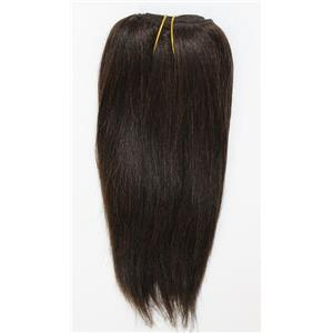"Dark Brown 2  straight mohair weft coarse 7- 8"" x 48"" 26470 QP"