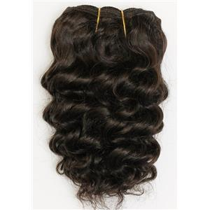 "Dark Brown 2  wavy mohair weft coarse  6-8"" x200""  26471  FP"
