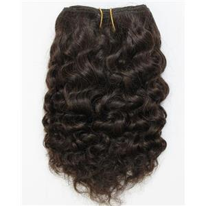"Dark Brown 2  curly mohair weft coarse  7-8"" x200""  26477  FP"