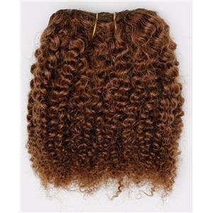 "Auburn # 30  bebe curl - tight curl  mohair weft coarse 7- 8"" x 50"" 26539  QP"