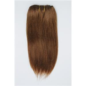 "Light auburn # 10  straight mohair weft coarse  7-8"" x200""  26543  FP"