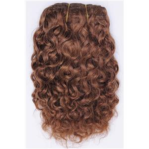 "Light auburn # 10 Curly mohair weft coarse 7-8"" x100"" 26550 HP"