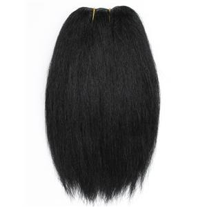 "Yak hair weft color 1 Black heavy natural straight  double 7-8"" x 25"" 26578 QP"