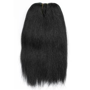 "Yak hair weft color 1 Black heavy natural straight single 7-8"" x 50"" 26581 QP"