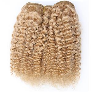 "Light strawberry blonde 24 bebe curl - mohair weft coarse 7-8"" x100"" 26583 HP"