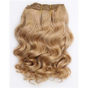 "Light strawberry blonde 24 wavy mohair weft coarse 7-8"" x100"" 26586 HP"
