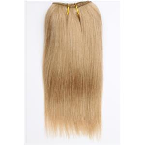 "Light strawberry blonde 24  straight mohair weft coarse 7- 8"" x 48"" 26590 QP"