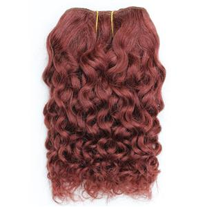 "Dark auburn red 33 curly mohair weft coarse  7-8"" x200""  26604  FP"