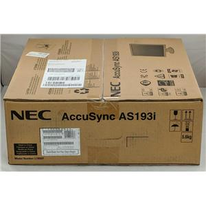 "Brand New NEC AccuSync AS193i 19"" Screen LED Backlit IPS LCD Monitor 1280x1024"