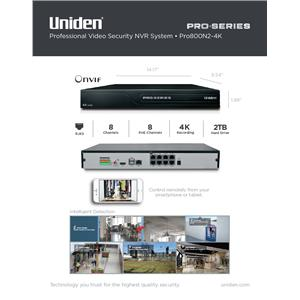 4K Professional Series Security System NVR 8-Channel PoE w/ 2TB Surveillance HDD