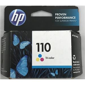 Genuine HP 110 Tri-color Ink Cartridge SEALED BOX  *expired* CB304AN