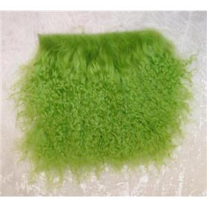 "3"" Lime green   tibetan lambskin no seams 11876"