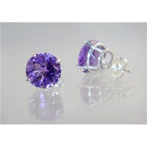 Amethyst, 925 Sterling Silver Earrings, SE212