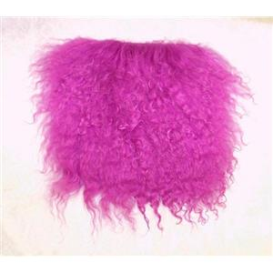 "3""  Medium purple tibetan lambskin no seams  11884"