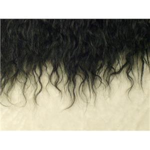 "3"" wavy Black Tibetan lamb skin no seams 22236"