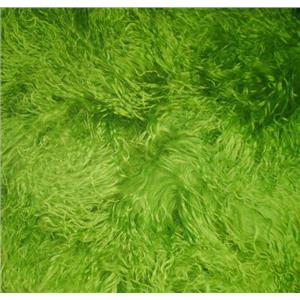 "2"" spring green tibetan lambskin no seams wig 22753"