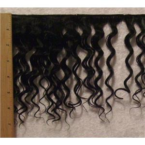 "Yak hair weft Black wavy 8 - 9"" x120"" 22851 FP"