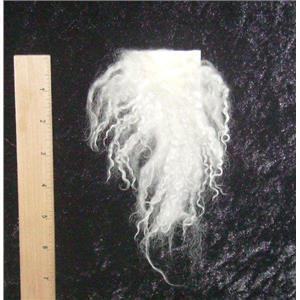 White tibetan lamskin scrap sample  23011