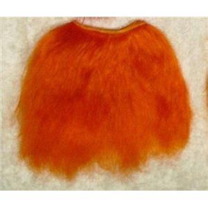 """Yak hair weft Bright orange 2% clown wig 6x58"""" 23058 QP"""