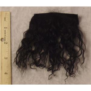 Black wavy tibetan lambskin sample 23240