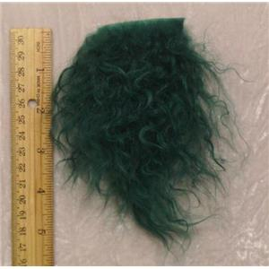 Deep kelly green tibetan lambskin sample 23543