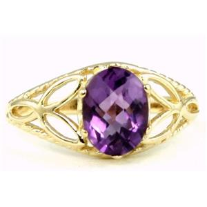 R137, Amethyst, Gold Ring