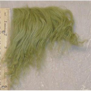 Avacado green tibetan lambskin sample 23666