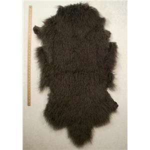 Half pelt fine dark gray Tibetan lambskin 24562