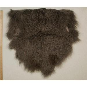 Half pelt fine dark gray 2 tone Tibetan lambskin 24582