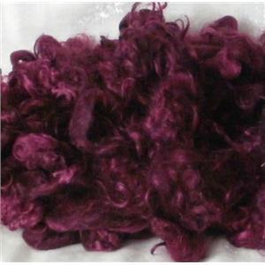 angora goat Mohair dyed  Plum 1 %  1 oz 24597