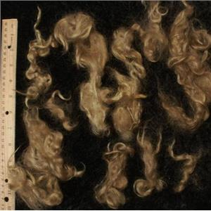natural blonde angora goat Mohair soft wave 1 oz  24916