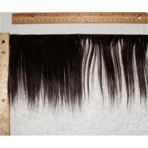 "mohair weft Dark brown 2   straight 6-8"" x130"" 24953 FP"