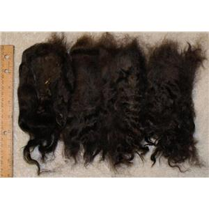 "extra dark Neutral brown mohair doll hair sorted locks 5-9""  25057"