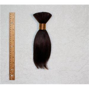 """Goat hair Bulk Dark brown 2B, hair 8  7-10"""" x 100g 25261 FP"""