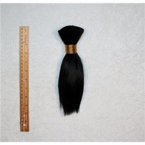 """Goat hair Bulk Black 1 , hair 8  7-10"""" x 100g 25254 FP"""